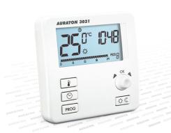 Termostat natynkowy - elektroniczny FULL LCD. Regulacja ręczna + programowanie. POLECAMY !