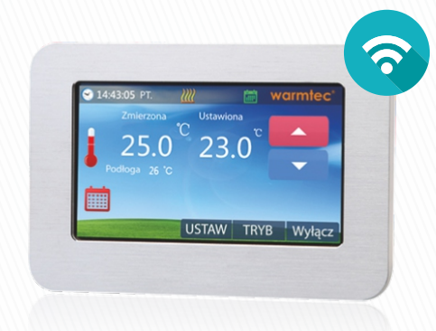 Bezprzewodowy termostat natynkowy z możliwością kontroli przez WiFi