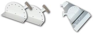 Wsporniki przeznaczone do montażu wysokotemperaturowych paneli grzewczych